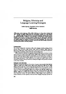 Religion, Ethnicity and Language Learning Strategies - Informit