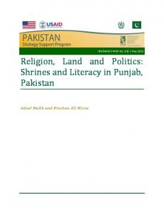 Religion, Land and Politics: Shrines and Literacy in ...
