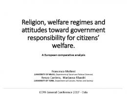 Religion, welfare regimes and attitudes toward ...