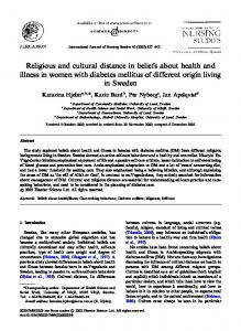 Religious and cultural distance in beliefs about ... - Health Advance
