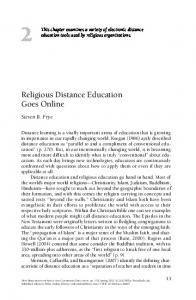 Religious distance education goes online - Wiley Online Library