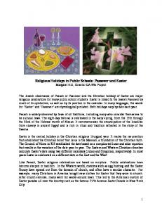 Religious Holidays in Public Schools - California Council for the ...