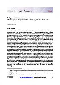 Religious law versus secular law The example ... - Utrecht Law Review