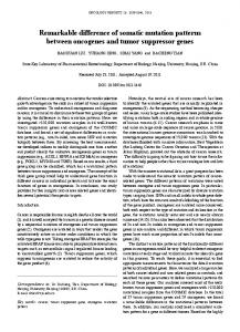 Remarkable difference of somatic mutation ... - Semantic Scholar