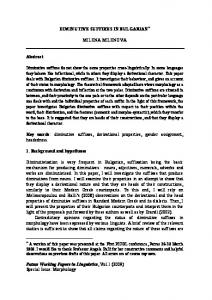 Remarks on Derivational and Headedness Some ...