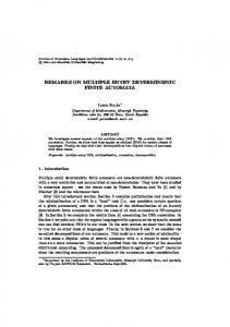 REMARKS ON MULTIPLE ENTRY DETERMINISTIC FINITE AUTOMATA