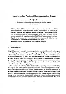 Remarks on One Arbitrated Quantum-signature Scheme