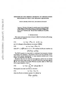 Remarks on the orbital stability of ground state solutions of fKdV and ...