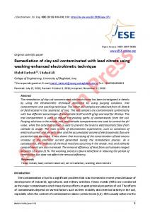 Remediation of clay soil contaminated with lead