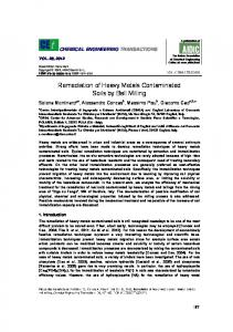 Remediation of Heavy Metals Contaminated Soils by Ball Milling