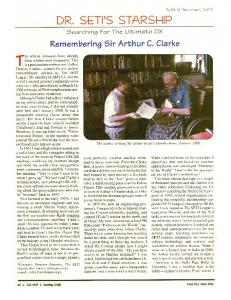 Remembering Sir Arthur C. Clarke - The SETI League