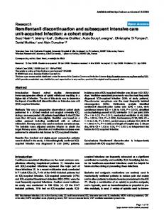 Remifentanil discontinuation and subsequent intensive ... - Springer Link