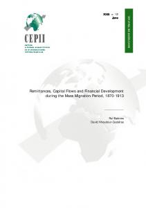 Remittances, Capital Flows and Financial Development ... - CiteSeerX