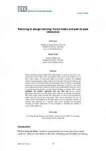 Remixing to design learning: Social media and peer-to-peer - Eric