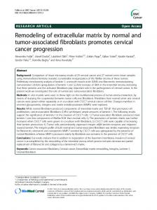 Remodeling of extracellular matrix by normal and tumor-associated ...