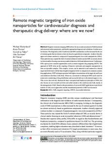 Remote magnetic targeting of iron oxide