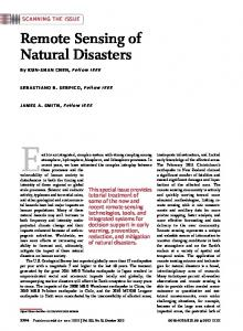 Remote Sensing of Natural Disasters