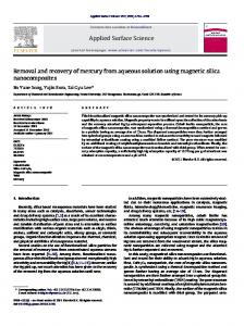 Removal and recovery of mercury from aqueous