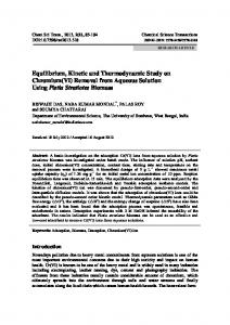 Removal from Aqueous Solution Using Pistia