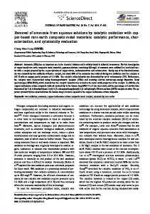 Removal of ammonia from aqueous solutions by catalytic oxidation