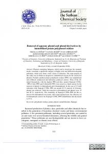 Removal of aqueous phenol and phenol derivatives by immobilized ...