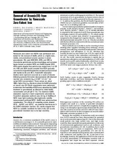 Removal of Arsenic(III) from Groundwater by ... - Rockmagnetism