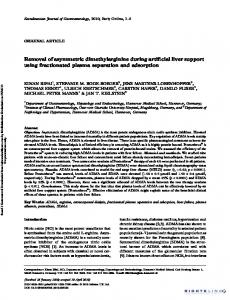 Removal of asymmetric dimethylarginine during artificial liver support ...