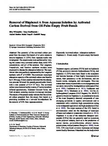 Removal of Bisphenol A from Aqueous Solution by ... - CiteSeerX