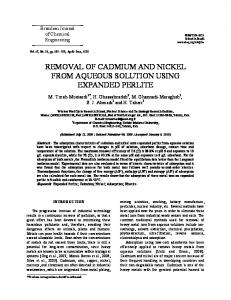 removal of cadmium and nickel from aqueous