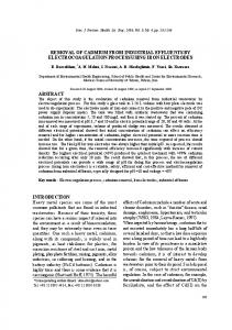 removal of cadmium from industrial effluents by ...