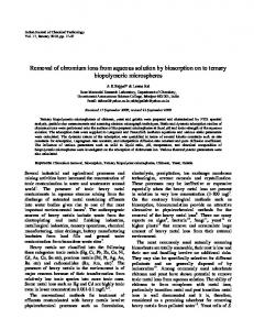 Removal of chromium ions from aqueous solution by ... - NOPR