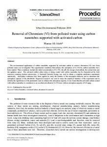 Removal of Chromium (VI) from polluted water using ...