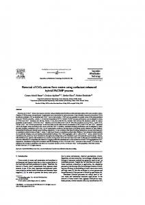 Removal of CrO4 anions from waters using surfactant ...