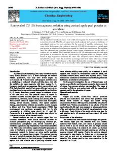 Removal of CU (II) from aqueous solution using ...