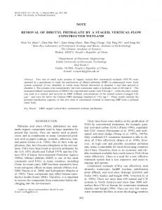 Removal of dibutyl phthalate by a staged, vertical-flow constructed ...
