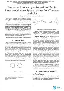 Removal of Fluorene by native and modified by linear