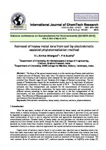 Removal of heavy metal ions from soil by electrokinetic assisted