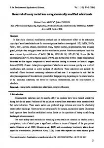 Removal of heavy metal ions using chemically modified ... - CiteSeerX