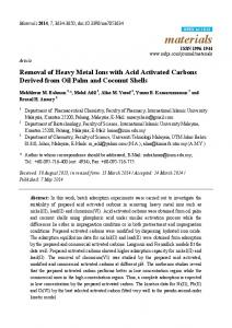 Removal of Heavy Metal Ions with Acid Activated Carbons ... - MDPI