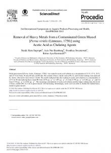 Removal of Heavy Metals from a Contaminated Green ... - ScienceDirect