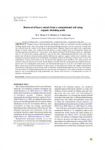 Removal of heavy metals from a contaminated soil using organic ...