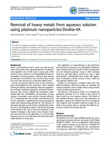 Removal of heavy metals from aqueous solution ... - BioMedSearch