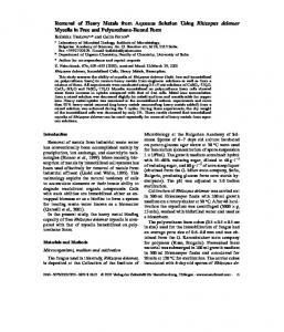 Removal of Heavy Metals from Aqueous Solution ... - Semantic Scholar