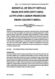 removal of heavy metals from dye effluent using activated carbon ...