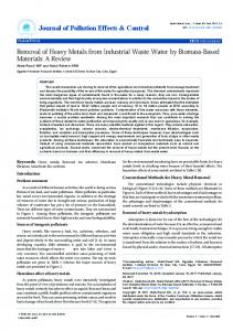 Removal of Heavy Metals from Industrial Waste ... - OMICS International