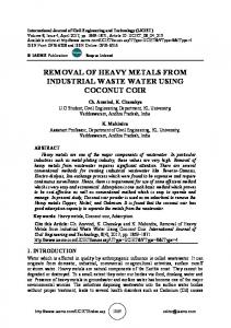 removal of heavy metals from industrial waste water ...
