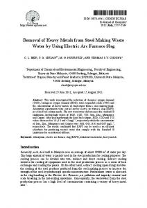 Removal of Heavy Metals from Steel Making Waste Water ... - Hindawi