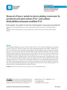 Removal of heavy metals in electro plating ...