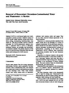 Removal of Hexavalent Chromium-Contaminated