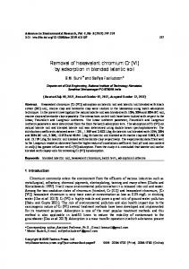 Removal of hexavalent chromium Cr (VI) by adsorption in blended